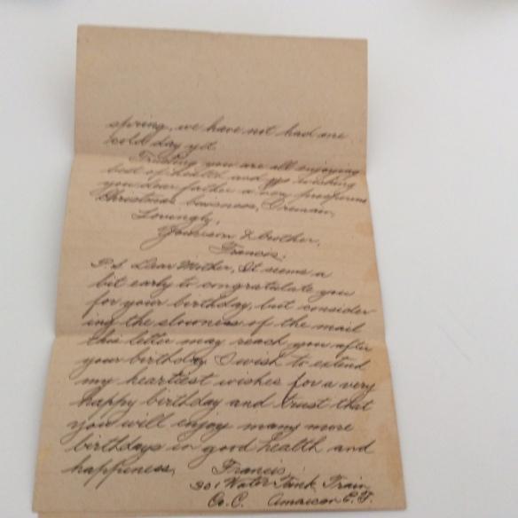 Frank December 8 1918 letter 3