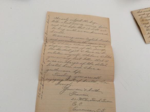 Frank November 13 1918 letter 2