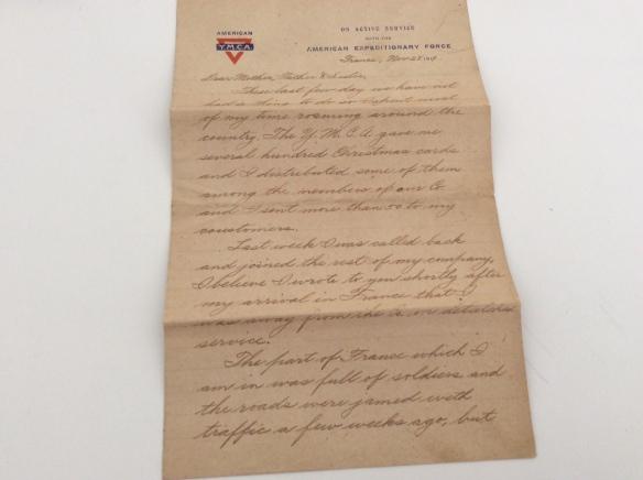 Frank November 28 1918 letter 1