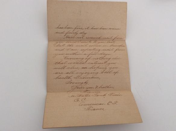 Frank November 28 1918 letter 3