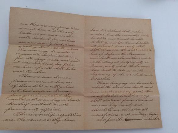 Frank November 28 letter 1918 2