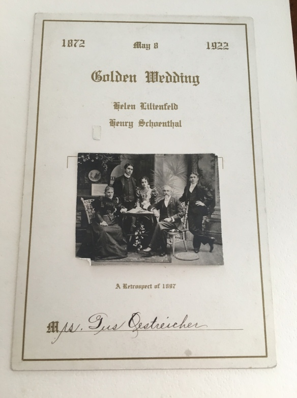 invitation to Henry Schoenthal 50th anniv party