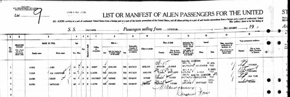 Mathilde Mayer passenger manifest October 1 1937