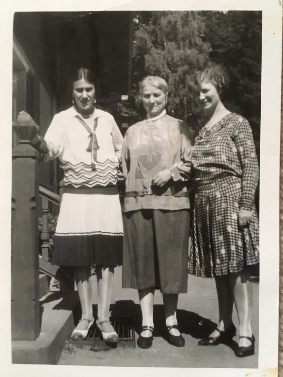 Alice Wronker Engel, Irma Lichter Wronker, and Ida Friedeberg Wronker