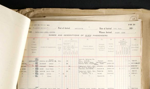Isidor and Klara (Emrich) Gross on 1937 ship manifest The National Archives of the UK; Kew, Surrey, England; Board of Trade: Commercial and Statistical Department and successors: Inwards Passenger Lists.; Class: BT26; Piece: 1138; Item: 48