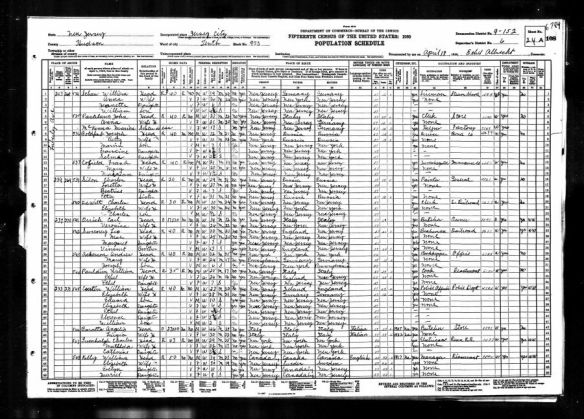 Joseph Goldfarb and family 1930 US census