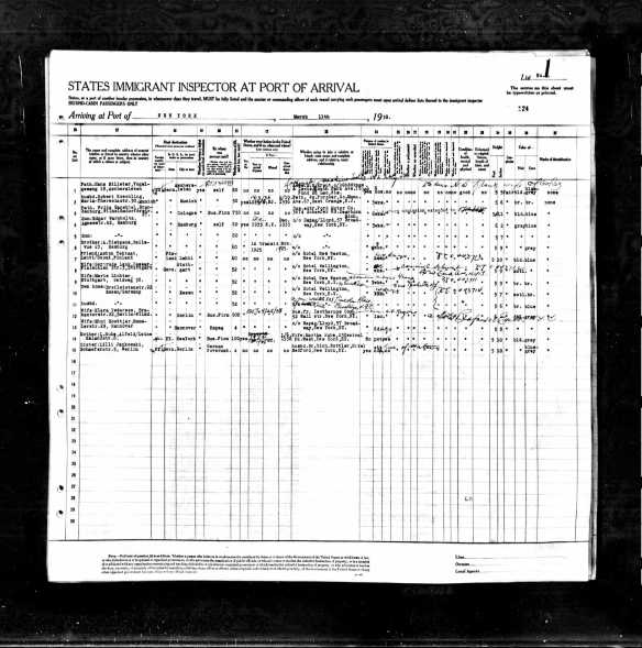 Paul Lichter on 1938 ship manifest to NY Ancestry.com. New York, Passenger Lists, 1820-1957 [database on-line]. Provo, UT, USA: Ancestry.com Operations, Inc., 2010. Original data: Passenger Lists of Vessels Arriving at New York, New York, 1820-1897. Microfilm Publication M237, 675 rolls. NAI: 6256867. Records of the U.S. Customs Service, Record Group 36. National Archives at Washington, D.C. Passenger and Crew Lists of Vessels Arriving at New York, New York, 1897-1957. Microfilm Publication T715, 8892 rolls. NAI: 300346. Records of the Immigration and Naturalization Service; National Archives at Washington, D.C. Supplemental Manifests of Alien Passengers and Crew Members Who Arrived on Vessels at New York, New York, Who Were Inspected for Admission, and Related Index, compiled 1887-1952.