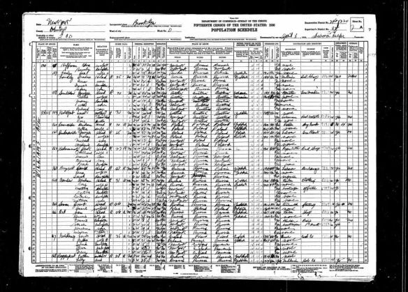 Sarah Goldfarb 1930 US census