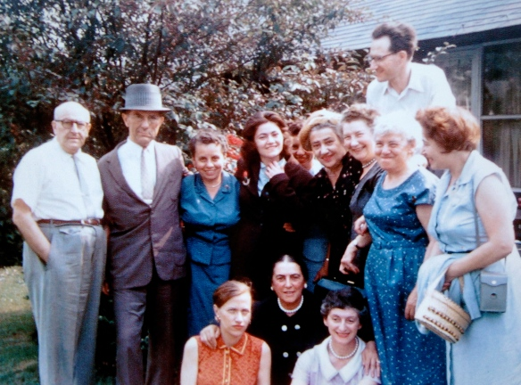 From left to right, standing: Max Wronker, Paul Lichter, Marie Hirsch Lichter, Lilli Cassel Wronker, Renate Lichter, Alice Wronker Engel, Irma Lichter Wronker, Erich .Wronker, unknown, Edith Cassel. Seated, left to right, Marion Engel and two unknown women Courtesy of the Wronker family