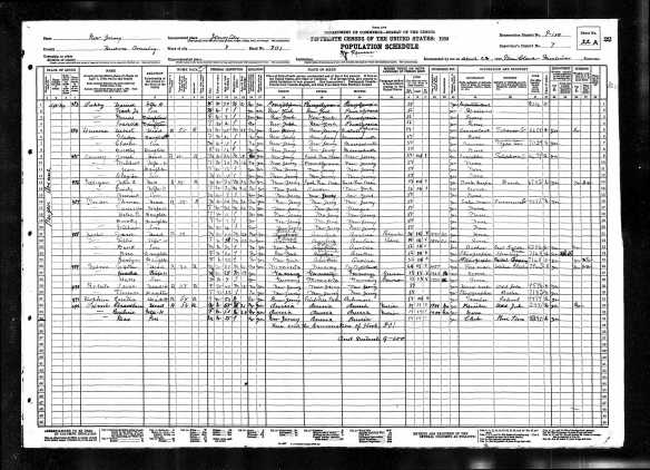 Jacob and Tillie Hecht 1930 US census Year: 1930; Census Place: Jersey City, Hudson, New Jersey; Roll: 1353; Page: 22A; Enumeration District: 0100; Image: 602.0; FHL microfilm: 2341088