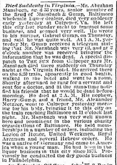 The Baltimore Sun - 19 Nov 1887, Sat - Page 4