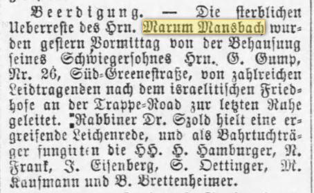 marum-mansbach-death-notice-april-1883-deutsche-correspondent-baltimore