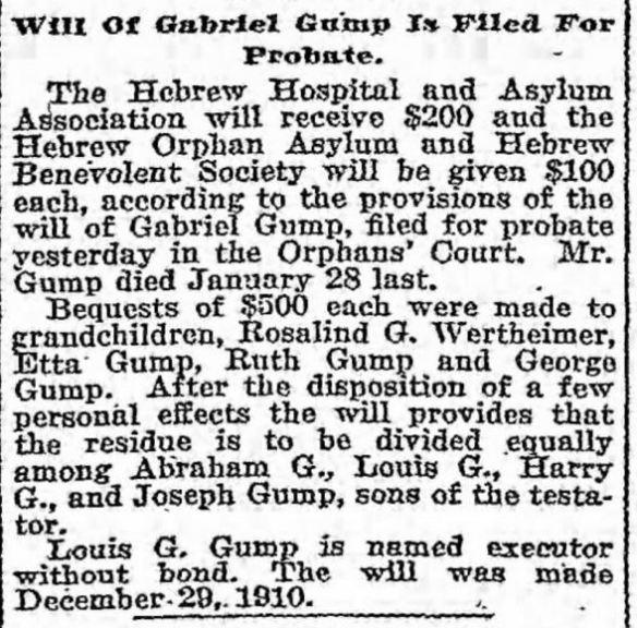 Baltimore Sun, February 3, 1915, p. 4