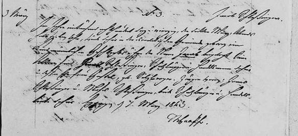 Jacob Schlesinger birth record from Eppingen