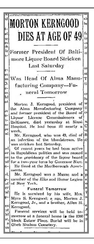 Baltimore Sun, May 13, 1939, p. 20