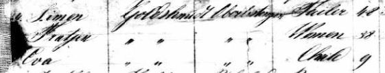 Simon, Fradchen, and Eva Goldschmidt on 1845 passenger manifest The National Archives at Washington, D.C.; Washington, D.C.; Records of the US Customs Service, RG36; NAI Number: 2655153; Record Group Title: Records of the Immigration and Naturalization Service, 1787-2004; Record Group Number: 85