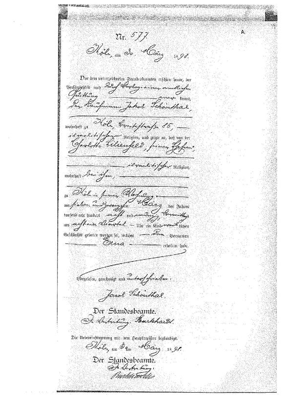 erna-schoenthal-birth-record
