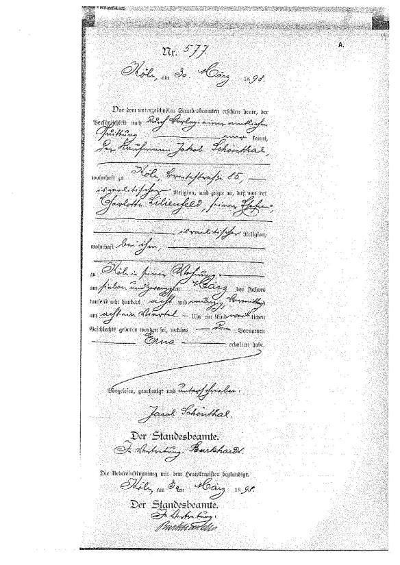erna-schoenthal-birth-record