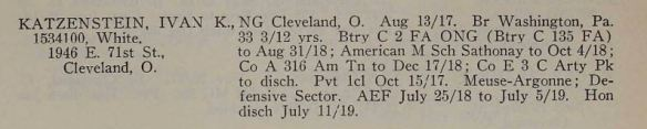Title : The Official Roster of Ohio Soldiers, Sailors, and Marines in the World War Volume 9 Source Information Ancestry.com. U.S., Adjutant General Military Records, 1631-1976 [database on-line]. Provo, UT, USA: Ancestry.com Operations, Inc., 2011.