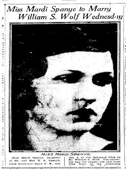 Cleveland Plain Dealer, January 2, 1933, p. 16