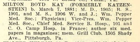 1922 Catalog of the University of Pennsylvania Ancestry.com. U.S., College Student Lists, 1763-1924 [database on-line]. Provo, UT, USA: Ancestry.com Operations, Inc., 2012. Original data: College Student Lists. Worcester, Massachusetts: American Antiquarian Society.