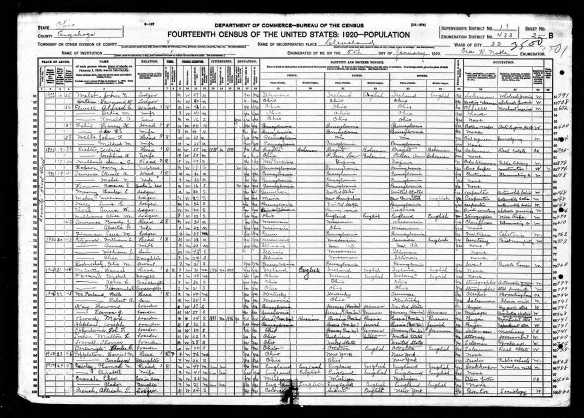 Howard and Vernon Katzenstein 1920 US census Year: 1920; Census Place: Cleveland Ward 22, Cuyahoga, Ohio; Roll: T625_1371; Page: 2B; Enumeration District: 433; Image: 988