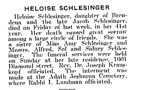 The Philadelphia Jewish Exponent, November 5, 1915, p. 12