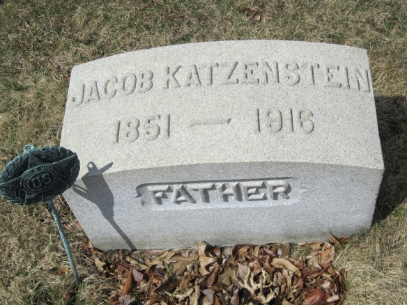 Jacob Katzenstein headstone courtesy of Find-A-Grave Member Brian J. Ensley (#47190867).