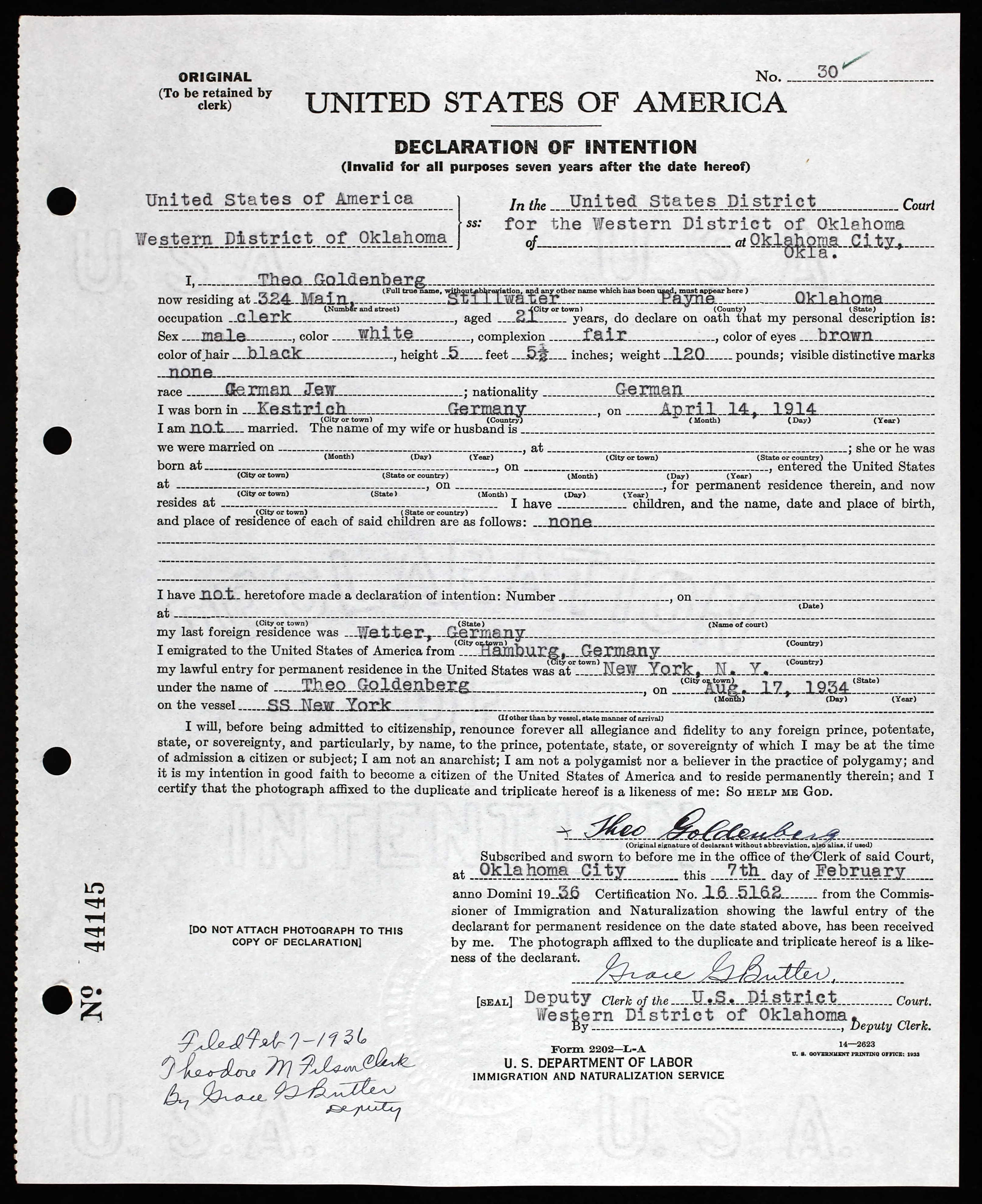 Stillwater brotmanblog a family journey national archives and records administration washington dc arc title petitions 1932 1991 arc number 731222 record group title records of aiddatafo Choice Image