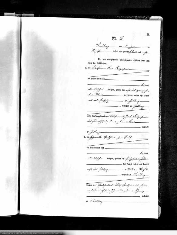 Marriage record for Levi Katzenstein
