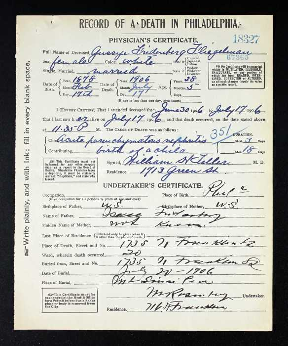 Death Certificate Brotmanblog A Family Journey