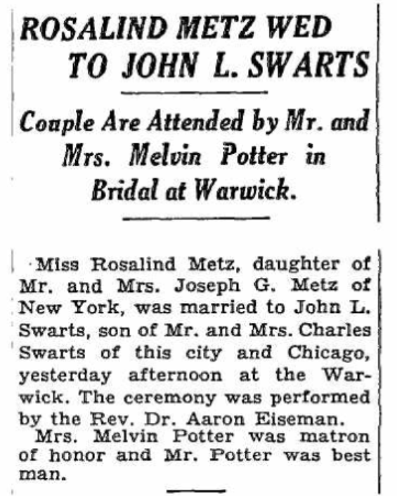 Ny Times Wedding Announcement: Rosa Goldschmidt And Her Family: The Final Chapter