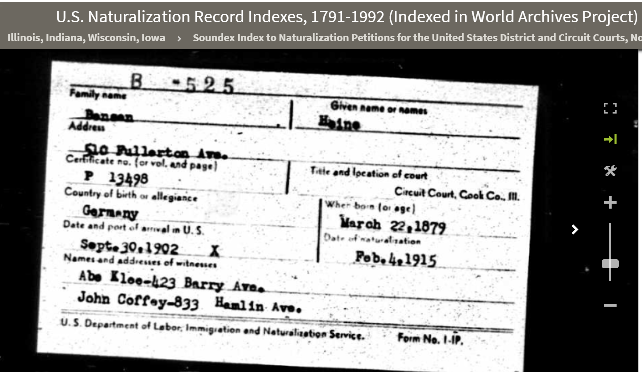 Bensev Brotmanblog A Family Journey Locating And Ordering Montreal Circuit Court Naturalization Records Roll Description B 524 Through 550 Gustov Joseph Ancestrycom Us Record Indexes 1791 1992 Indexed In World Archives Project
